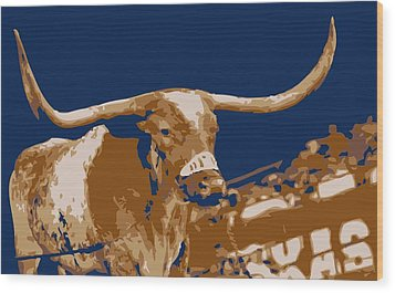 Texas Bevo Color 6 Wood Print
