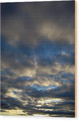 Texas Big Sky Four Wood Print by Ana Villaronga