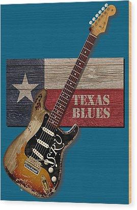 Texas Blues Shirt Wood Print by WB Johnston