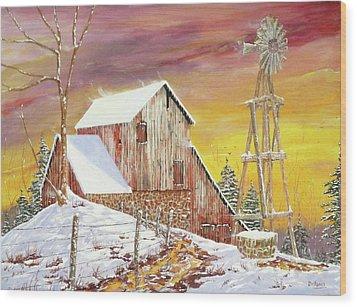 Texas Coldfront Wood Print