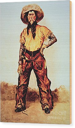 Texas Cowboy Wood Print by Frederic Remington