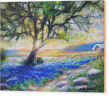 Texas Fanfare Wood Print by Patti Gordon