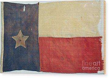 Texas Flag, 1842 Wood Print by Granger