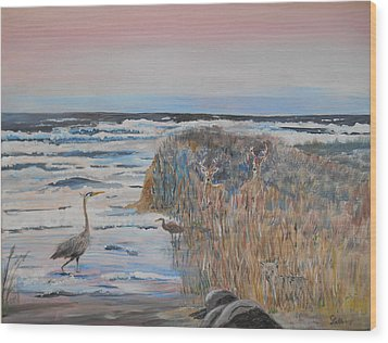 Texas - Padre Island Wood Print by Christine Lathrop