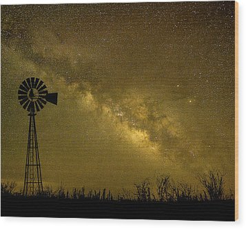 Texas Panhandle Milky Way Wood Print