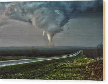 Texas Twister Wood Print
