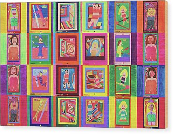 Texting Itrash Divas Wood Print by Ricky Gagnon