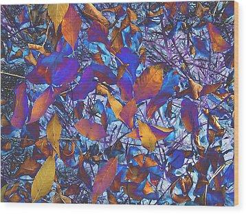 Textured Blue Wood Print by Beth Akerman