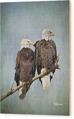 Textured Eagles Wood Print