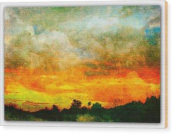 Textured Sunset Wood Print