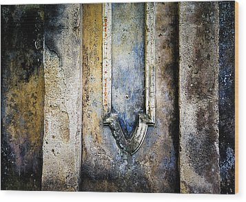 Wood Print featuring the photograph Textured Wall by Marion McCristall