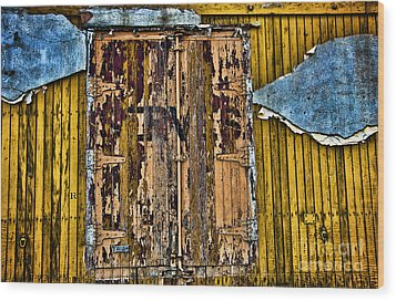 Textured Wall Wood Print by Ray Laskowitz - Printscapes