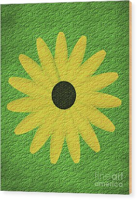Wood Print featuring the digital art Textured Yellow Daisy by Smilin Eyes  Treasures