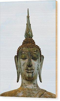 Thai Buddha Wood Print by Rob Tullis