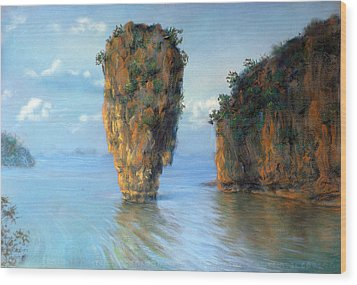Thai Landscape Wood Print