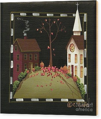 Thanksgiving In Kirkwood Village  Wood Print by Catherine Holman