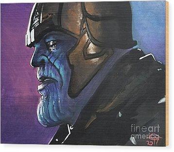 Thanos Wood Print by Tom Carlton