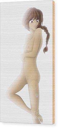 Thariel Wood Print by Sandra Hoefer