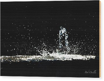 Wood Print featuring the photograph That Falls Like Tears From On High by Bob Orsillo