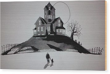 That House Wood Print by Ronald Mcduff