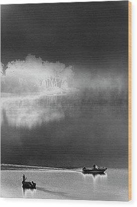 Wood Print featuring the photograph That Island There by Steven Huszar