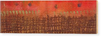 That Long Brown Fence Dividing You And Me Wood Print by Angela L Walker