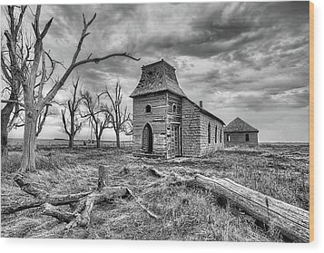 Wood Print featuring the photograph That Old Time Religion Black And White by JC Findley
