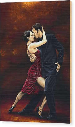 That Tango Moment Wood Print by Richard Young