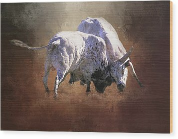 Wood Print featuring the photograph That's A Lot Of Bull by Donna Kennedy