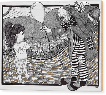 Thats Not A Hot Air Balloon Wood Print by Lenora Brown