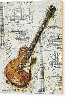 The 1955 Les Paul Custom Wood Print by Gary Bodnar
