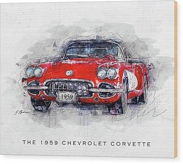 The 1959 Chevrolet Corvette Wood Print