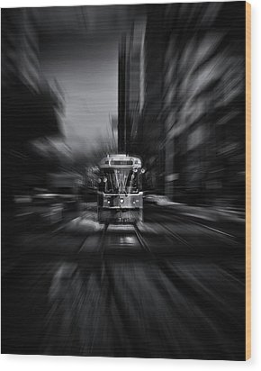 The 512 St. Clair Streetcar Toronto Canada Flow Wood Print by Brian Carson