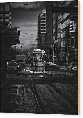 Wood Print featuring the photograph The 512 St.clair Streetcar Toronto Canada by The Learning Curve Photography
