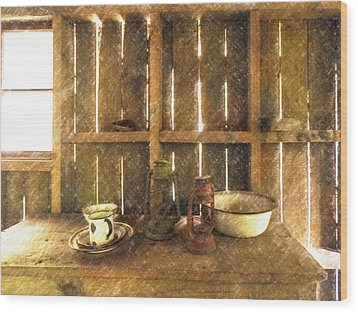 The Abandoned Cabin Wood Print
