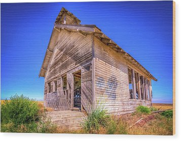 The Abandoned School House Wood Print