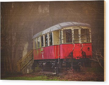 Wood Print featuring the photograph The Abandoned Tram In Salzburg Austria  by Carol Japp