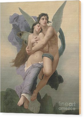 The Abduction Of Psyche Wood Print by William-Adolphe Bouguereau