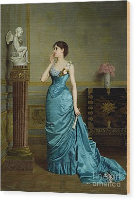 The Accomplice Wood Print by Auguste Maurice Cabuzel