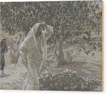 The Accursed Fig Tree Wood Print by Tissot