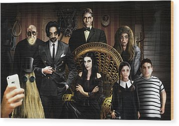 The Addams Family Wood Print