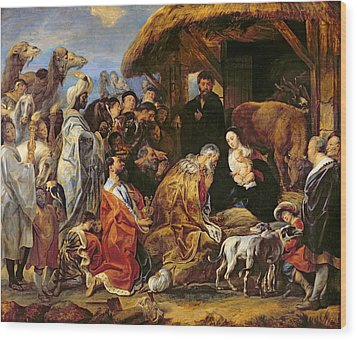 The Adoration Of The Magi Wood Print by Jacob Jordaens