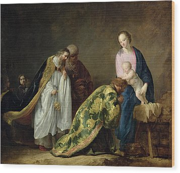 The Adoration Of The Magi Wood Print by Pieter Fransz de Grebber