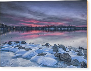 Wood Print featuring the photograph The Afterglow by Edward Kreis