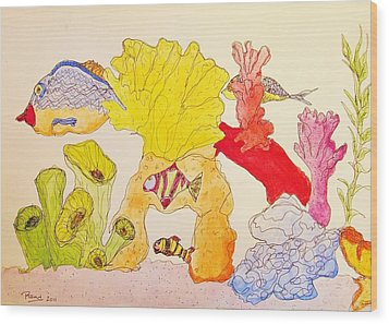 The Age Of Aquarium Wood Print