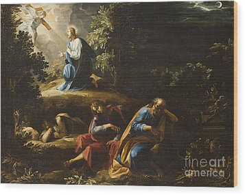 The Agony In The Garden Wood Print by Guiseppe Cesari
