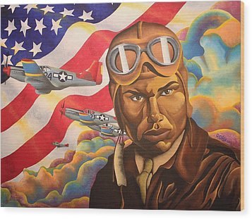The Airman Wood Print by William Roby