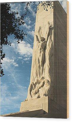 The Alamo Cenotaph Wood Print