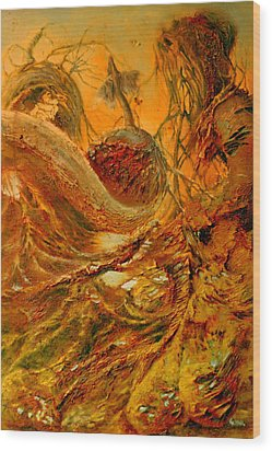 Wood Print featuring the painting The Alchemist by Henryk Gorecki