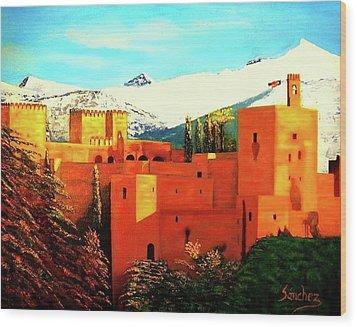 The Alhambra Of Granada Wood Print